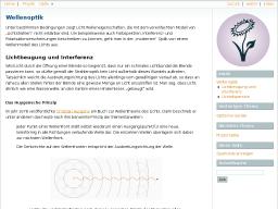 Cover: Wellenoptik — Grundwissen Physik