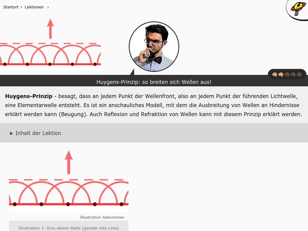Cover: Huygens-Prinzip: so breiten sich Wellen aus!