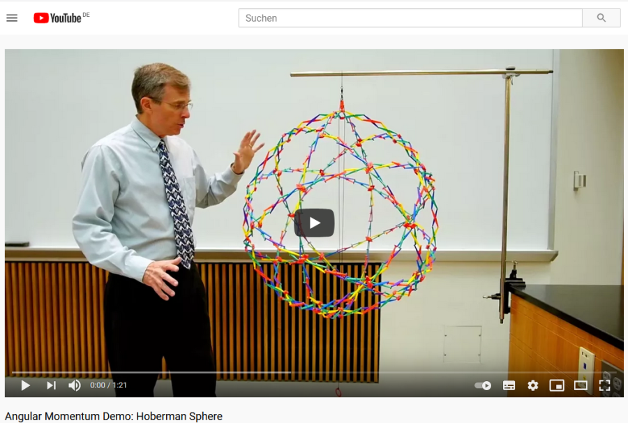 Cover: Drehimpulserhaltung: Hoberman Sphere - YouTube