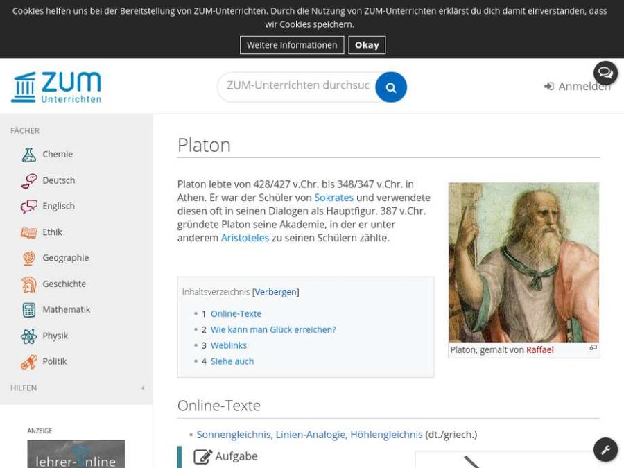 Cover: Platon und das Höhlengleichnis