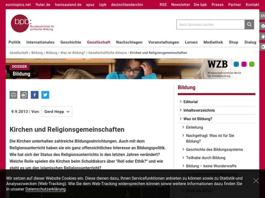 Cover: Kirchen und Religionsgemeinschaften