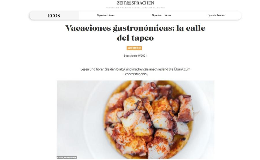 Cover: Vacaciones gastronómicas: la calle del tapeo