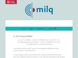 Cover: Der Tunneleffekt - milq