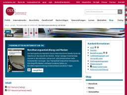 Cover: Bevölkerungsentwicklung und Renten - Themenblätter
