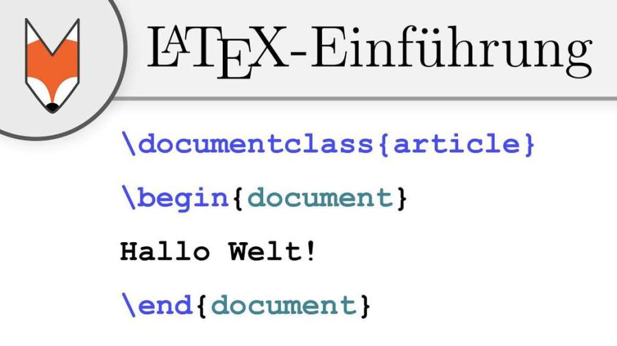 Cover: LaTeX-Einführung 1 - Hallo Welt!