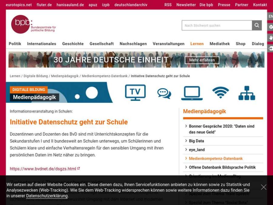 Cover: Initiative Datenschutz geht zur Schule