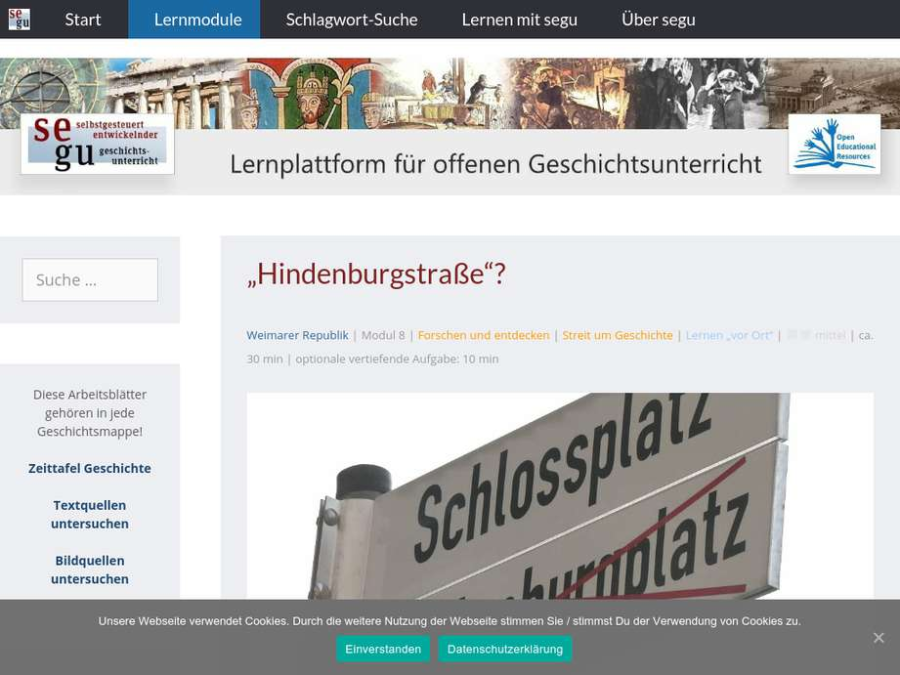 "Cover: ""Hindenburgstraße"