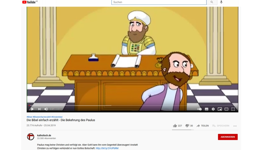 Cover: Die Bibel einfach erzählt - Die Bekehrung des Paulus - YouTube