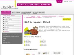 Cover: DAZ-Lernpaket   Möbel