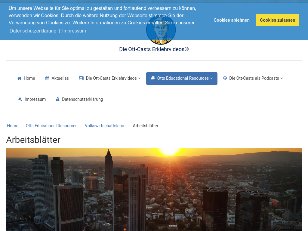 Cover: Die Ott-Casts - Arbeitsblätter