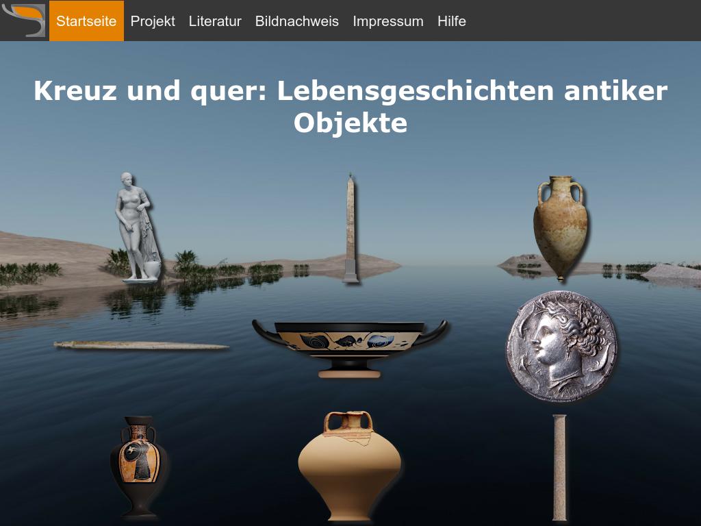 Cover: Kreuz und quer: Lebensgeschichten antiker Objekte