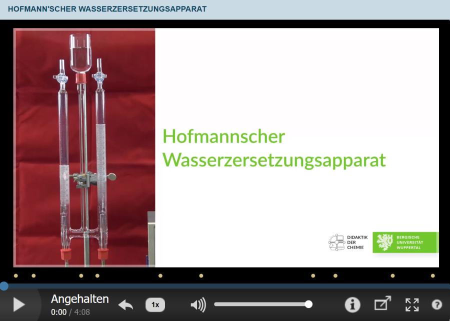 Cover: Hofmann'scher Wasserzersetzungsapparat