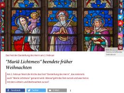 Cover: Darstellung des Herren - Maria Lichtmess - katholisch.de