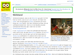 Cover: Wohlstand – Klexikon