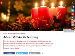 Cover: Advent: Zeit der Vorbereitung - katholisch.de
