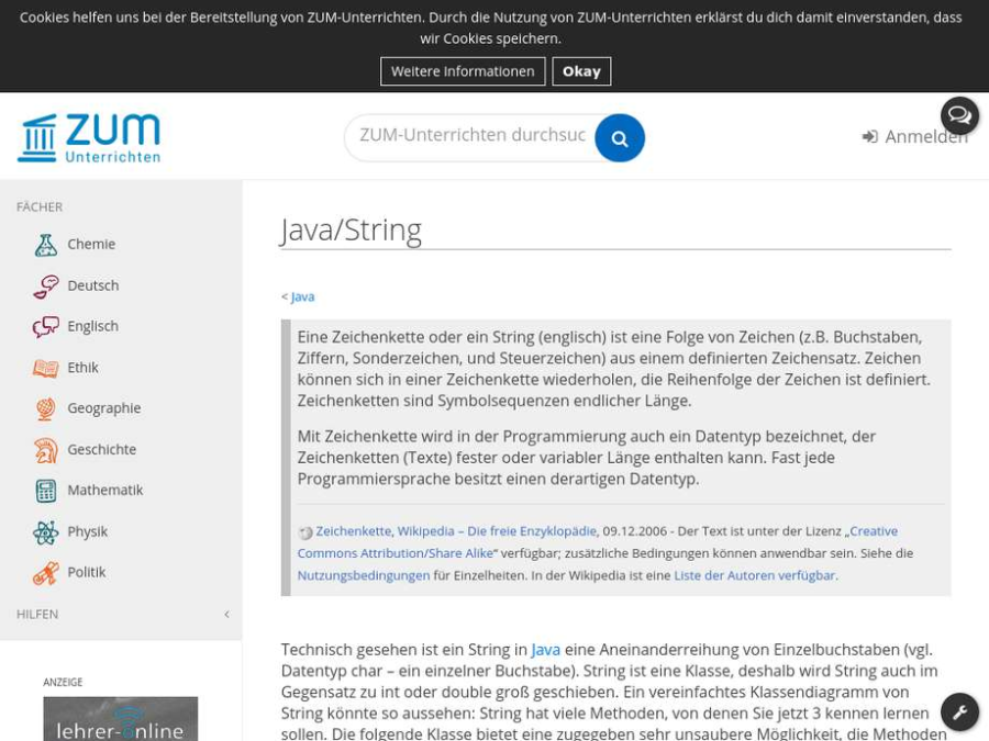 Cover: Java/String