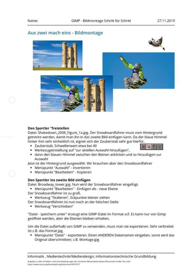 Cover:  GIMP - Bildmontage Schritt für Schritt