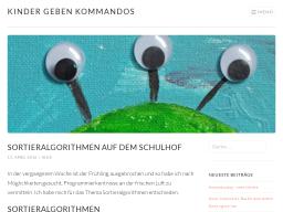 Cover: Sortieralgorithmen auf dem Schulhof - Kinder geben Kommandos