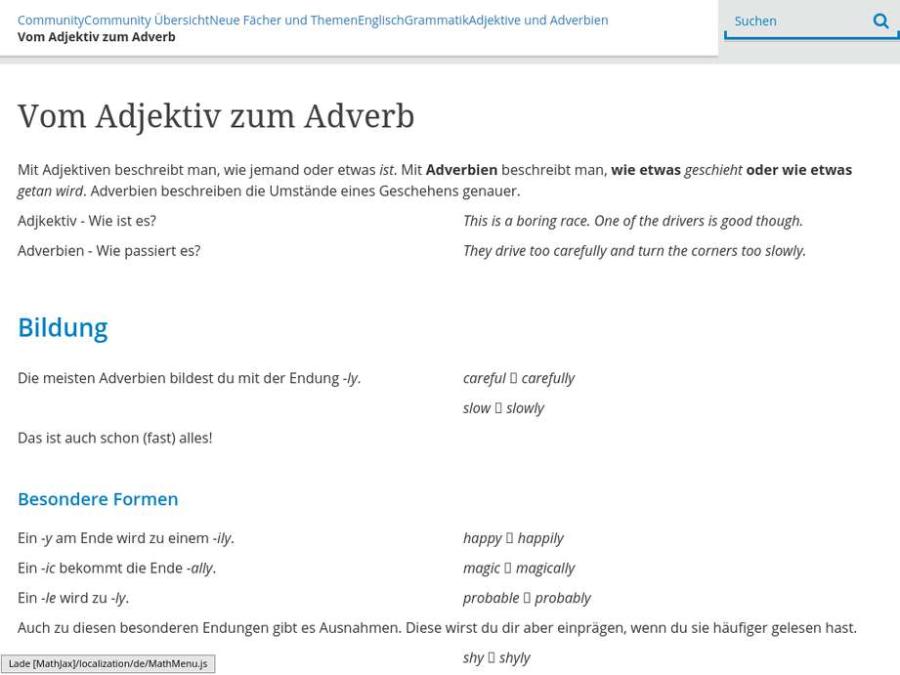 Cover: Vom Adjektiv zum Adverb