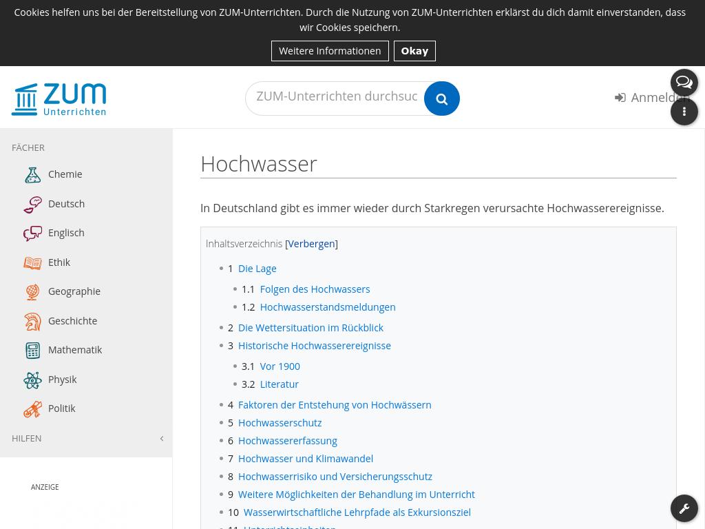 Cover: Hochwasser – ZUM-Unterrichten