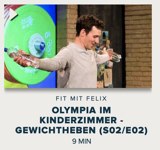 Cover: Fit mit Felix : Olympia im Kinderzimmer - Gewichtheben