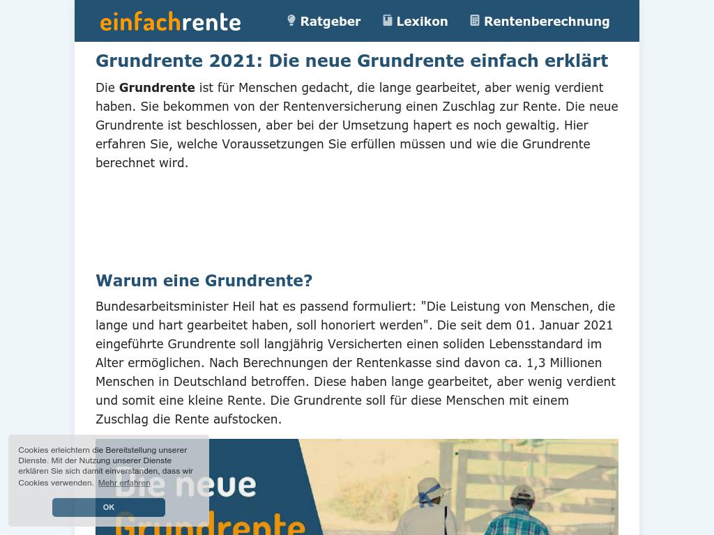 Cover: Grundrente 2021: Die neue Grundrente einfach erklärt