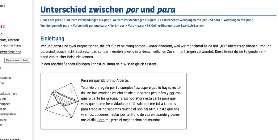 Cover: POR und PARA | Erklärung und Übung