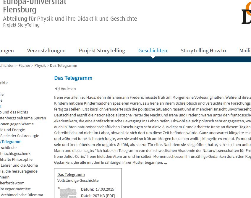 Cover: Das Telegramm - und die Entdeckung künstlicher Kernreaktionen - Story Telling