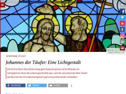 Cover: Das ist Johannes der Täufer - katholisch.de