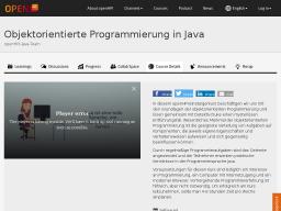 Cover: Objektorientierte Programmierung in Java   openHPI