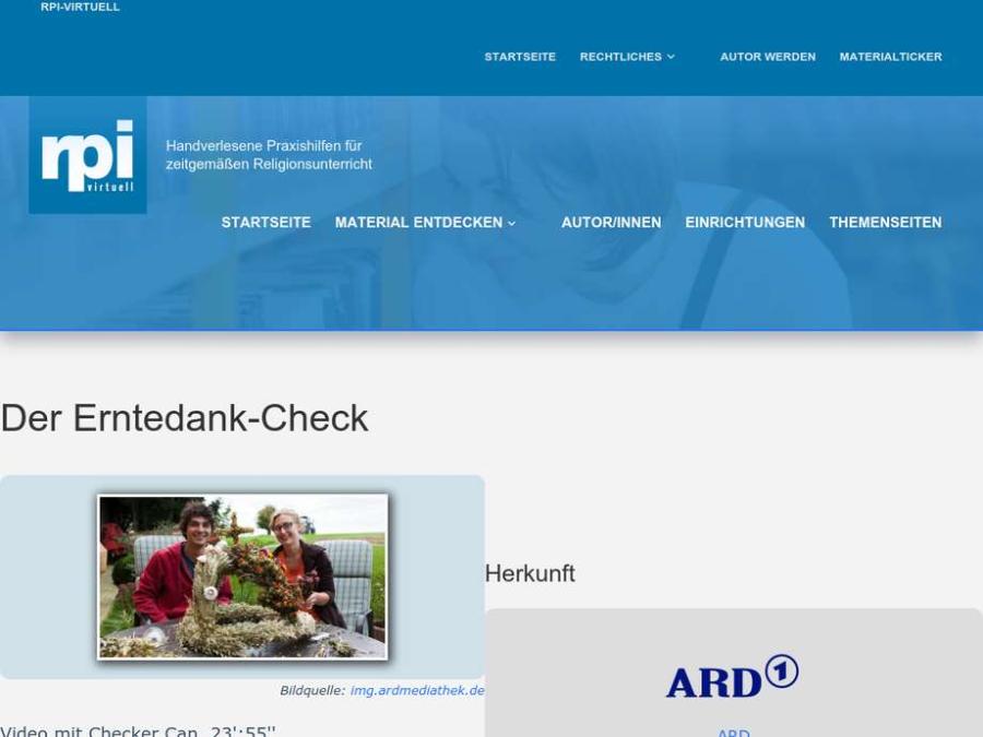 Cover: Der Erntedank-Check