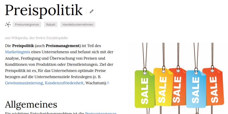 Cover: Preispolitik - Wikiwand