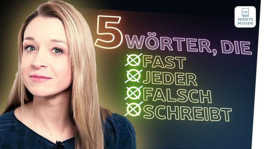 Cover: Diese Rechtschreibfehler macht fast jeder! | Quiz | musstewissen Deutsch