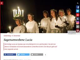 Cover: Sagenumwobene Lucia - katholisch.de