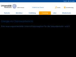 Cover: Konzept: Energie im Chemieunterricht | Universität Rostock