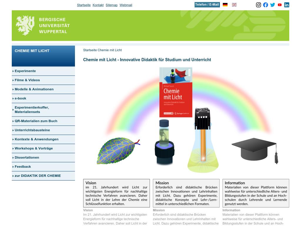 Cover: Chemie mit Licht - Innovative Didaktik für Studium und Unterricht