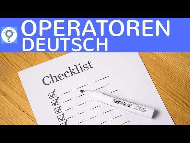 Cover: Operatoren für Deutsch Oberstufe & Abitur - Die solltest du kennen! Einfach erklärt