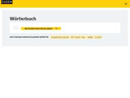 Duden | Online-Wörterbuch