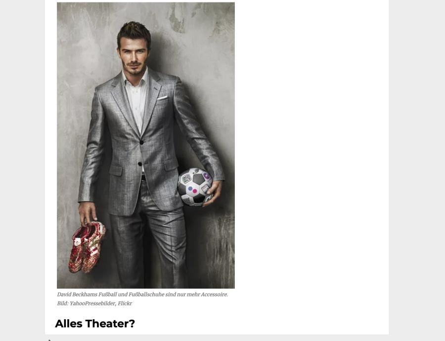 Cover: Fußballkunst: Das Theater im Fußball-Spiel