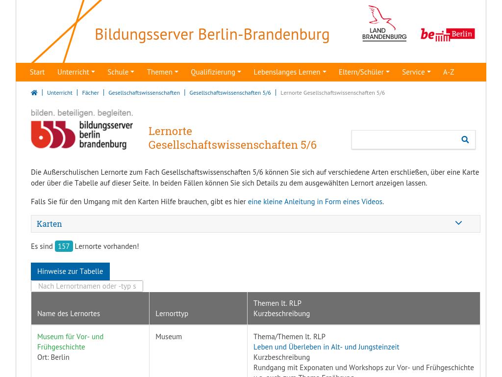 Cover: Lernorte Gesellschaftswissenschaften 5/6 | Bildungsserver