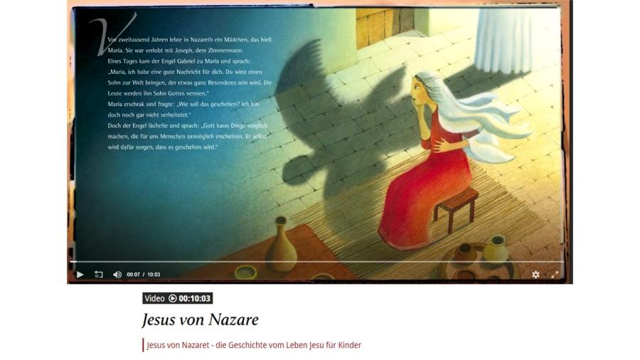 Cover: Jesus von Nazaret - die Geschichte vom Leben Jesu für Kinder