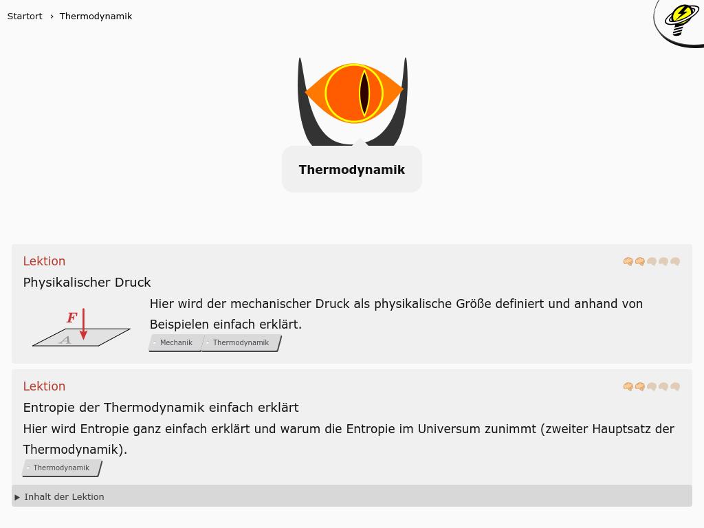 Cover: Thermodynamik - kostenlose Kurse, Videos und mehr!