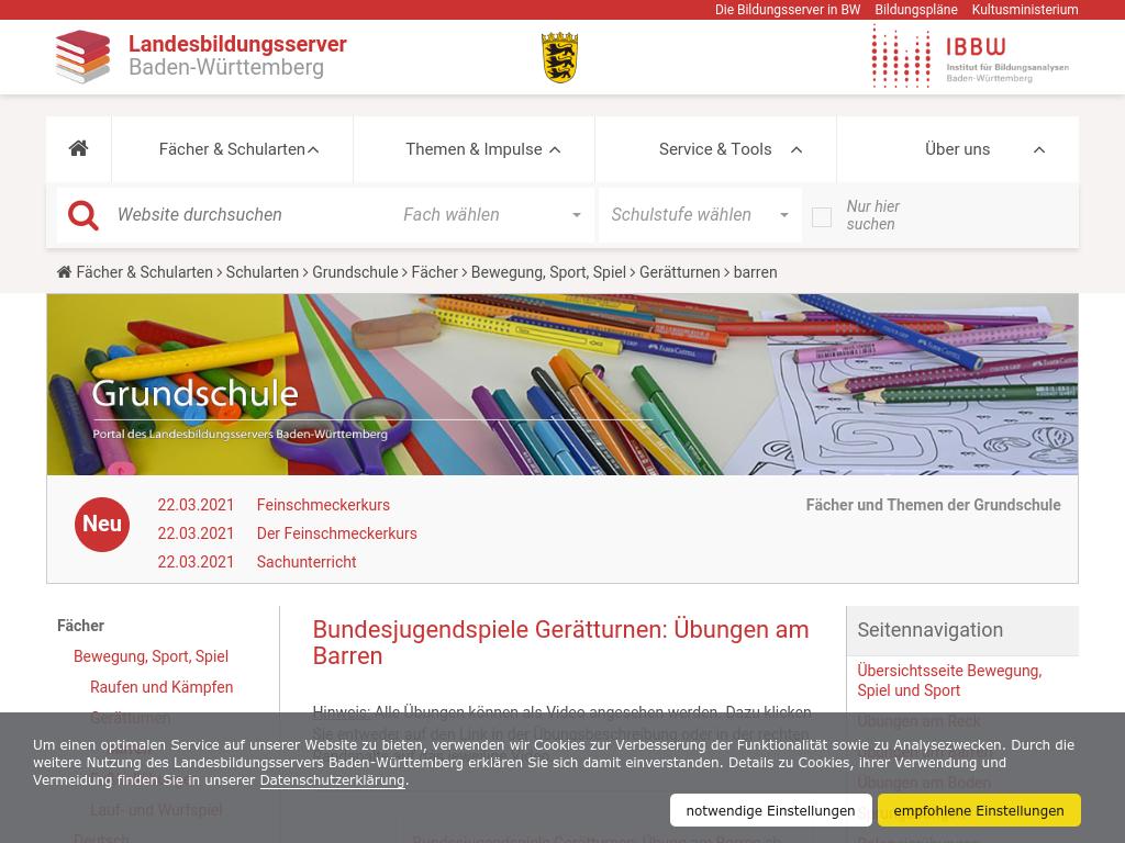 Cover: Bundesjugendspiele Gerätturnen: Übungen am Barren