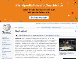 Cover: Basketball - wikipedia.de