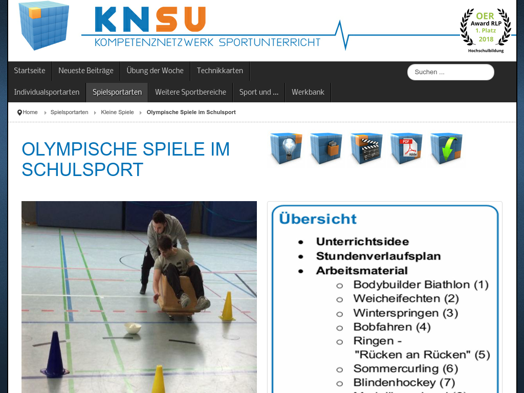 Cover: Olympische Spiele im Schulsport - KNSU