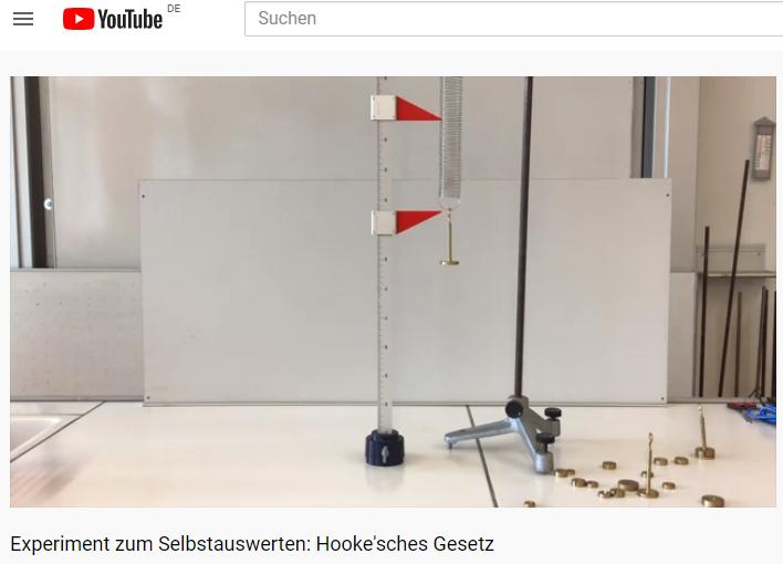 Cover: Experiment zum Selbstauswerten: Hooke'sches Gesetz
