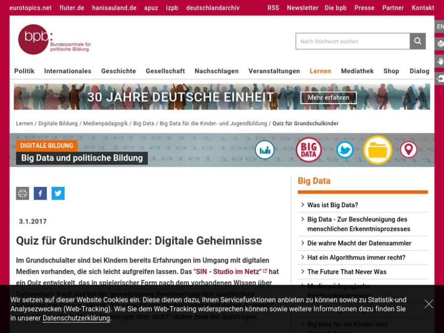 Cover: Quiz für Grundschulkinder: Digitale Geheimnisse