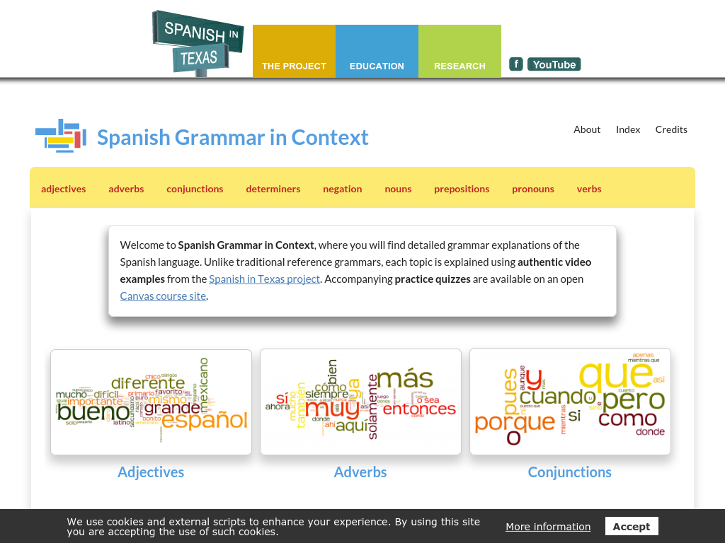 Cover: Spanish Grammar in Context