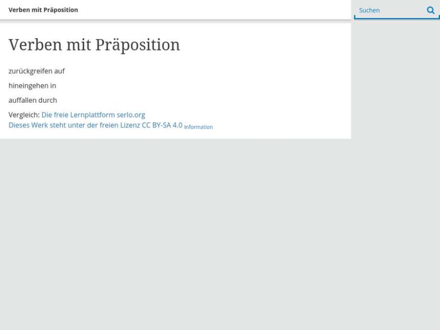 Cover: Verben mit Präposition