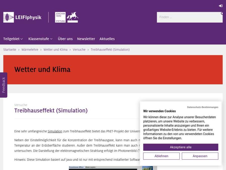 Cover: Treibhauseffekt (Simulation)